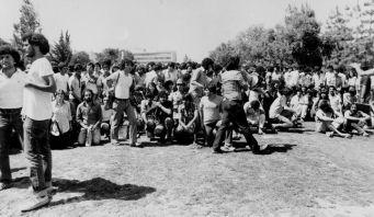 נעם בהפגנה באוניברסיטה