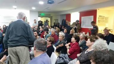 הקהל בערב לזכרו של נעם קמינר שהתקיים במשרדי קרן רוזה לוקסמבורג