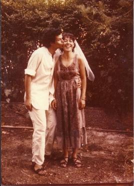 נעם קמינר וסמדר נהב ביום חתונתם, 1980