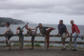 נעם קמינר ומשפחתו, ספרד 2012. (מימין לשמאל:) נעם, שלום וויס, תאיר קמינר, רומי קמינר, נגה וויס, אלינור קמינר